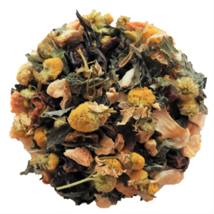 Lemon drop chamomile loose leaf tea with full spectrum CBD oil.