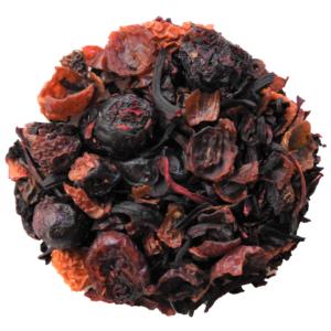 Hibiscus Tea with berries.
