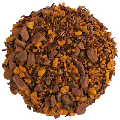 Turmeric with cinnamon and rooibos herbal tea.