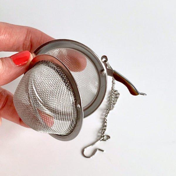Metal mesh infuser ball.