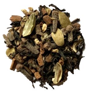 New England Chai tea on white background