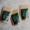 Powering Off, Gentle Ginger Lemongrass, and Turmeric Trio bags of tea.