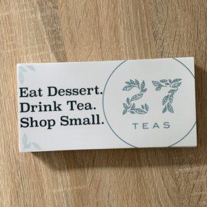Tea bumper sticker.