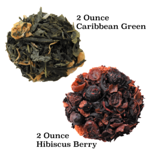 Two images of the top selling loose leaf tea package.