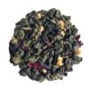 Lemon Raspberry loose leaf tea on white background